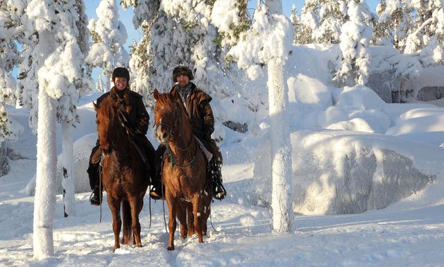Örngårdsberget paardrijden Zweeds lapland