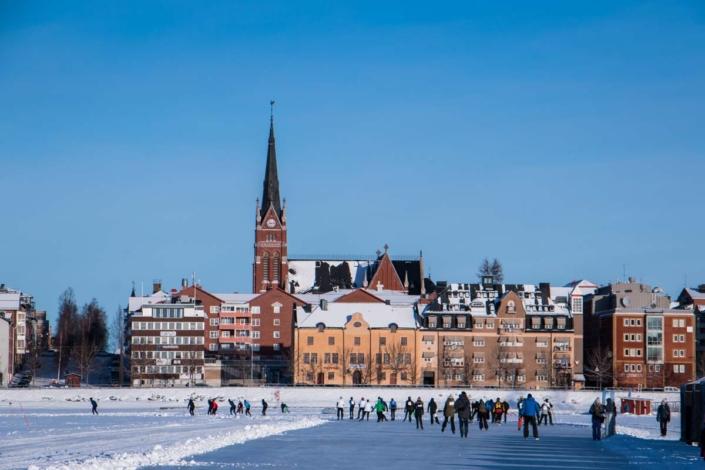 Stad lulea- Schaatsen - zweden
