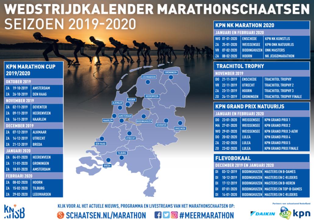 marathonkalender 2020 Schaatsen Lulea